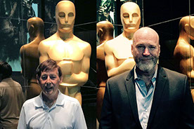 Wayne Clark and Brendan Kelly at Academy of Motion Pictures and Sciences theater in Los Angeles